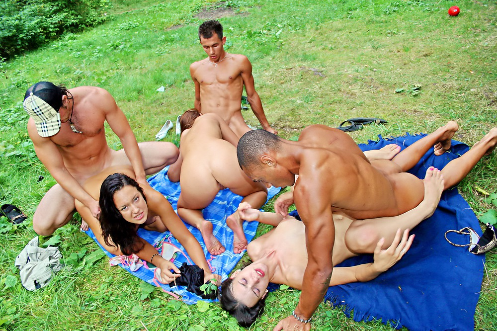 Hot college fucking in the woods, part 4