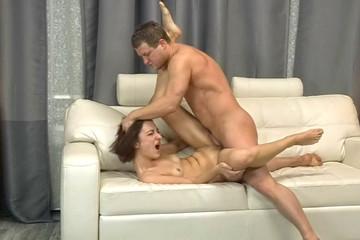 Hot skinny chick's amazing sex video