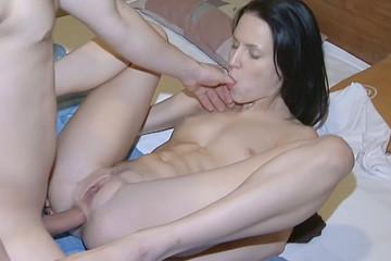 Deep throat blowjob, pussy and ass fuck