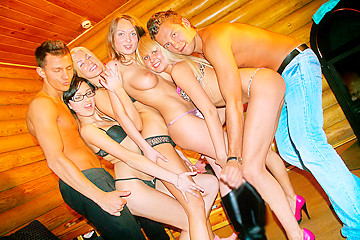 Hot college sex party in winter, part 2