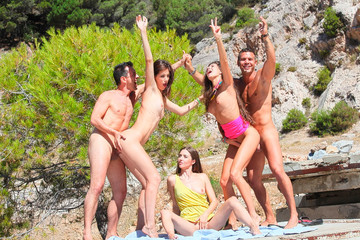 Real sex party on the sunny beach, part 2