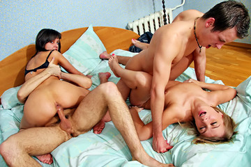 Kinky student group sex before holidays, part 5