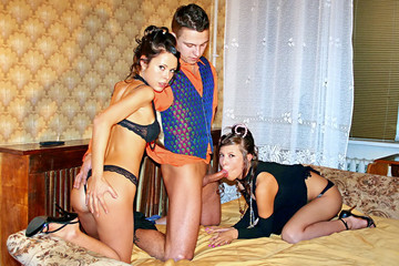 Hot sex party in retro style, part 3
